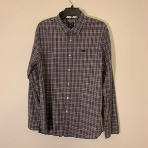 Men's large RVCA long sleeve button down shirt.
